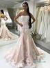 H1005 Blush pink with white lace mermaid wedding dress (rubbyrubby15) Tags: blushmermaiddress weddingdress weddinggowns bridaldress unconventional strapless fitflarebridalgown bride ido weddinginspired