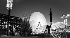 It's a black and white Christmas. (The Pixel and Eye) Tags: christmas georgesquare bigwheel celebration christmastree glasgow lights longexposure night nighttime thepixelandeye bfburke