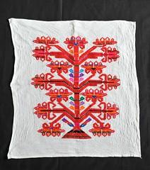 Mexican Embroidered Fabric Oaxaca (Teyacapan) Tags: mexican chinantec embroidery bordados oaxacan sewing needlework ranchogrande
