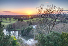 A Winter sunset (Rob McC) Tags: landscape berkshire trees fields river sunset twighlight dusk hills building