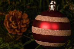 Candlelight Ornament (jeff's pixels) Tags: litbycandlelight candlelight macromondays macro ornament christmas holiday tree nikon d850