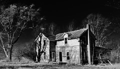 that's no way to respect your elders... (BillsExplorations) Tags: abandoned abandonedillinois abandonedfarm abandonedhouse decay ruraldecay ruraldeterioration oncewashome shuttered forgotten elders respect blackandwhite monochrome tree shadows ir field spoonriver illinois prairie
