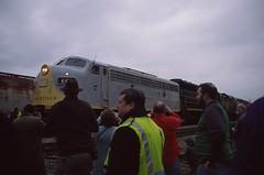 Railfans enjoying the Santa Train's locomotives (el825) Tags: clinchfield 2017 f3 f3a sd45 emd f40ph ocs officecar officecarspecial afterparty santa santaclaus santatrain tn tennessee kingsport