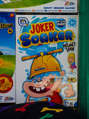 The Joker Soaker (Steve Taylor (Photography)) Tags: jokersoaker toy game wet soaked drenched helmetspin helmet bone darts design water boy lad child kid girl uk gb england greatbritain unitedkingdom margate