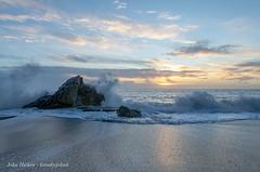 First sunrise of 2018 - DSC_0763 [Flickr Explore 1st January 2018] (John Hickey - fotosbyjohnh) Tags: 2018 january2018 sunrise whiterock killiney dublin ireland irishsea coast coastalview coastline seascape rock sea waves beach
