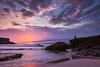 Surya Namaskara (Ettore Trevisiol) Tags: ettore trevisiol nikon d7200 d300 sigma 17 50 28 nikkor 55 200 vr 10 20 fuerteventura spain island landscape seascape canary canarian playa de esquinzo el cotillo sunset yoga surfer surf ocean golden hour blue