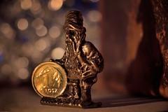 Wraclaw gnome (JaapFoto) Tags: rood macromondays litbycandlelight gnome wraclaw candlelight candle shadow macro micro nikon d750 sculpture statue