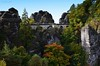 Bastei (martin bildermacher) Tags: saxony elbsandsteingebirge bastei brücke herbst autumn wald wood laub bunt color nikon d5100 dresden rathen