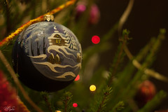 Christmas mood (AnzhN) Tags: christmas tree bokeh macro lights availablelight holiday newyear advent bauble eve decoration garland gift ornament tinsel xmas winter canon carlzeiss spruce branch