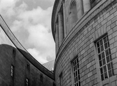 Central Library (joshdgeorge7) Tags: manchester library hp5 film blackandwhite ricoh architecture building old victorian stone geometric