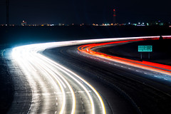 Hefner Parkway (N87 Photography) Tags: okc oklahoma oklahomacity cars light trail road highway hefner