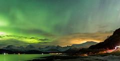 Northern Lights vs. Light Pollution (rafareceputi) Tags: northernlights auroraboreal auroraborealis tromso norway norge norwegiannorthernlights nightphotography norwaynorthernlights northernnorway arcticcircle arctic troms no aurora norwegianlights norwayaurora