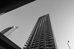 Barbican #III (Alexander Rentsch) Tags: sonya7ii canontse17mmf4l greatbritain england london cityoflondon barbican architecture architektur urban city utopia scifi modernism future retro vintage monochrome geometry vscofilm