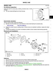 Nissan Note 2006 Rear Axle Service Manual RAX-5 (DrJohnBullas) Tags: nissan note 2006 rear axle wheel bearing replacement