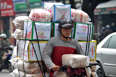 Boxing on (Roving I) Tags: workers transport packages boxes parcels deliveries motorcycles loads street hue vietnam