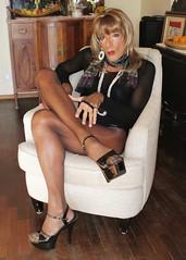 Karen (Karen Maris) Tags: karen tgirl tgurl tg pantyhose tights transsexual transvestite transgender heels highheels blonde body tranny trannie crossdress crossdresser