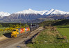 KiwiRail 5195 + 5520   trein 848   Springfield (NZ)   30-10-2014 (Freek1985) Tags: kiwirail springfield phase2 coal cargo railway train railroad dxc ge generalelectric u26c capegauge midlandline dx solidenergy ngakawau snow mountain