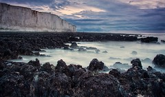 Beachy head (bertie.carter.photography) Tags: seascape beachyhead sea slowshutter mist dawn sussex uk landscape coast clouds