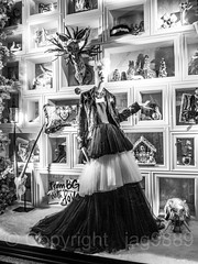 "2017 Bergdorf Goodman ""To New York with Love"" Holiday Window Display, Midtown Manhattan, New York City (jag9889) Tags: 2017 2017holidaywindowdisplay 20171203 5thavenue bw bg bergdorfgoodman blackandwhite christmas clothing departmentstore display dress fashion fifthavenue flagship gowns holiday manhattan mannequin midtown monochrome ny nyc newyork newyorkcity night nightphotography nightscene outdoor reflection retail storewindow usa unitedstates unitedstatesofamerica window jag9889"