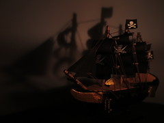 A ghost ship and its shadow (Espykrelle) Tags: macromondays macro ship bateau ghostship bateaufantome candel chandelle litbycandlelight sidelit candlelight ombre shadow sundaylights