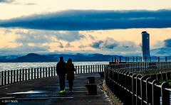 Late Afternoon Stroll (BGDL) Tags: lightroomcc nikond7000 bgdl landscape urban afsnikkor18105mm13556g seascape ayr pier lighthouse couple outforastroll clouds
