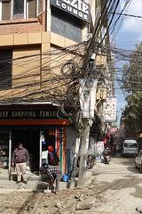 Street corner (posterboy2007) Tags: kathmandu nepal street utilitypole cables telecom infrastructure sony