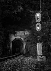 Altapass (WillJordanPhoto) Tags: trains csx clinchfield spruce pine nc north carolina signal altapass marion tunnel q692 mountains crr night clear blueridgemountains subdivision