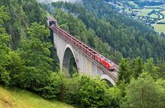 Tauernbahn I.   1116.183 + 1116.276 OBB   Penk im Mölltal - Oberfalkenstein   Falkenstein-Brücke   2.7.2017 (lofofor) Tags: electric taurus príprah most viadukt austria rakúsko alpy penk falkensteinbrücke oberfalkenstein