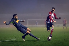 Altrincham FC vs Matlock Town - December 2017-152 (MichaelRipleyPhotography) Tags: altrincham altrinchamfc altrinchamfootballclub alty ball coyr celebrate celebration community cup fans fog football footy goal header jdavidsonstadium kick league matlocktown mosslane npl nonleague northermpremierleague pass pitch referee robins score semiprofessional shot soccer stadium supporters tackle team win