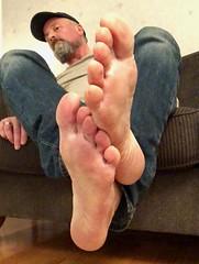 Bare feets. (silvpix) Tags: carhartt cap man guy soles footsole barefoot barefeet