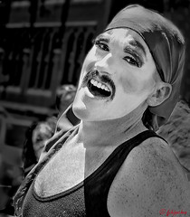MAN OF PRIDE AND JOY (panache2620) Tags: man pride laughter happy joy minneapolis candid photojournalism documentary social eos canon portrait male monochrome bw partygoer