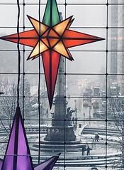 Columbus Circle, Manhattan (Bryan Appleyard) Tags: manhattan newyork christmas columbus snow