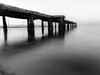 Beyond The Limits (Abdalis_3k60) Tags: bridge jetty blackandwhite nature urban streetphotography longexposure silkywater