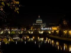(roberto emme) Tags: river tevere lights urban robertoemme d4 traveling travel nikon night photo italia vaticano sanpietro roma