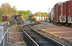 KCS Stack Train at Jackson (craigsanders429) Tags: canadiannational stacktrains illinoiscentralrailroad kansascitysouthern jacksonmississippi amtrakstations