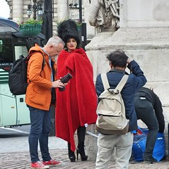 Photo Shoot (Waterford_Man) Tags: london bearskin red photoshoot photographers people path street candid boots camera