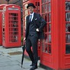 2017-11-18: Maximum London (psyxjaw) Tags: london londonist cityoflondon man suit hat bowler bowlerhat moustache phone box phonebox citygent bank redphonebox