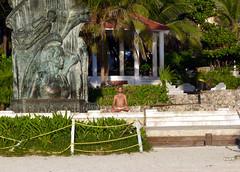 Meditating (_EdG_) Tags: mexico yucatan playadelcarmen boy yoga beach maya sunrise sunny sunnyday seaside sand