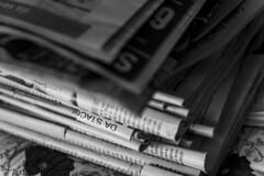 pila (Nico Selis) Tags: black white dark day night light street photography documentary granny house italy italia papers giornali dishes coffee caffè