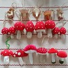 My #amanitamuscaria #flyagaric #mushroom #ornament #collection has grown over the years.#christmas #wooden #carved #mushrooms #ornaments #fungus #fungi #tablecloth (Heath & the B.L.T. boys) Tags: instagram christmas mushroom toadstool fungus wood ornaments polkadots face