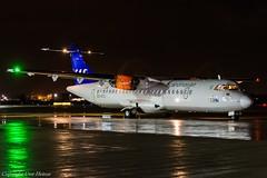 Scandinavian Airlines (SAS) ES-ATC HAJ at Night (U. Heinze) Tags: aircraft airlines airways flugzeug planespotting plane haj hannoverlangenhagenairporthaj eddv nikon night