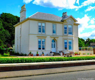 Scotland West Highlands Argyll a lovely white house Millport town island of Cumbrae 9 August 2017 by Anne MacKay