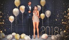 Happy New Year! (Cara Olivieri) Tags: lelutka glamaffair doux treschic hive keke uber sayo fameshed reign gizseorn chicchica ezposes shinyshabby anc