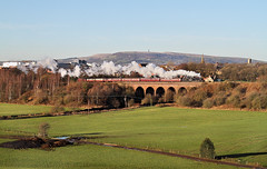 Black 5 On The Viaduct. (Neil Harvey 156) Tags: steam steamloco steamengine steamrailway railway 45212 rocheviaduct bury eastlancsrailway elr black5 lms stanier