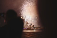 Firework through the shadow sky #nye #firework #sydney