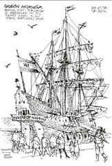 Spanish galleon replica (Luis_Ruiz) Tags: spanish galleon andalucía galeón málaga port malaga maritime culture replica sailing boat vessel 16th century ship drawing urban sketchers