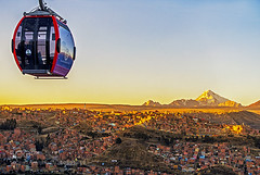 Engine (philipperavailler) Tags: ifttt 500px sky sunset travel sun transportation urban cityscape evening mountain modern dusk city life distance cable car public contemporary stratosphere moody horizon over land teleferico la paz el alto bolivia evo morales living clouds view