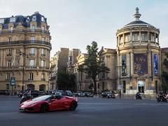 PARISIAN STREETS (johnjunod) Tags: paris parisian france lamborghini red summer europe olympus em10 m43 scene