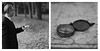 """""""Je me suis tenu debout sur le chemin de traversé... """"(""""I have... stood at a crossroad or two..."""") (l'imagerie poétique) Tags: limageriepoétique poeticimagery diptych mediumformatfilm bronicasqa bokeh portfolio kodaktmax400 150mmf35 closeuplens believeinfilm filmisnotdead selfdeveloped"""