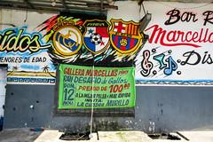 Hobbies of many people in Panama (Mabelín Santos) Tags: street artecallejero panama panameños hobby arteurbanopanama arte wall gallos gallera futbol